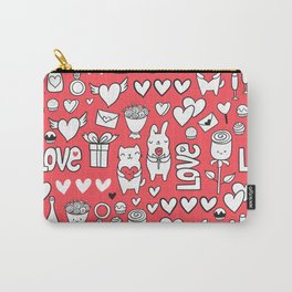 Happy Valentines Carry-All Pouch