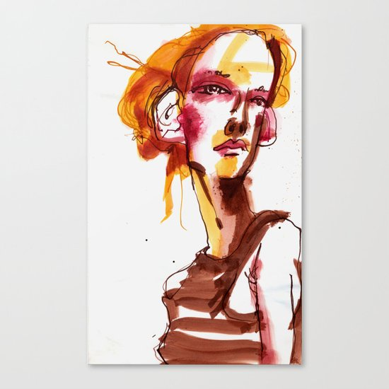 HAIR MODEL #1 Canvas Print