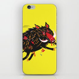 The wounded wild boar iPhone Skin