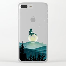 Comfortably Numb Clear iPhone Case