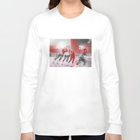 roller derby Long Sleeve T-shirts featuring Punchtuation Roller Derby by Vin Zzep