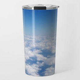 Blue Sky White Clouds Color Photography Travel Mug