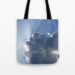 Sun Breaking Through Clouds Tote Bag