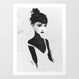 Oh, Audrey Art Print