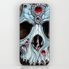 blue skull red jewels iPhone & iPod Skin