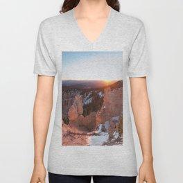 Bryce Canyon Sunrise Unisex V-Neck