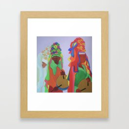 Festa do Rosario Framed Art Print