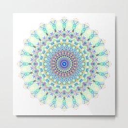 Snowflake #001 transparent Metal Print