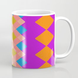 Vibrant Diamond Geometric Purple Yellow Coffee Mug