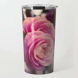 Pink camellia Travel Mug