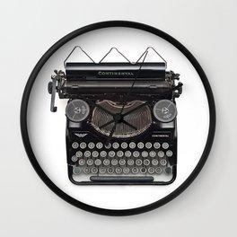 Continental Type writer Wall Clock