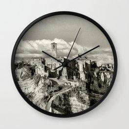 Civita di Bagnoregio, Italy Wall Clock
