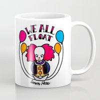 pennywise Mugs featuring We All Float Down Here by Oh Rocky