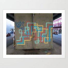 arte de tuberías coloridas Art Print