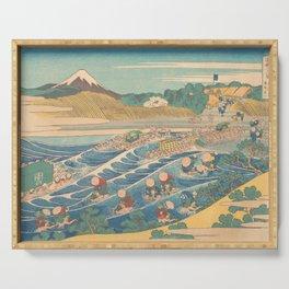 Fuji Seen from Kanaya on the Tōkaidō, Series Thirty-six Views of Mount Fuji by Katsushika Hokusai Serving Tray
