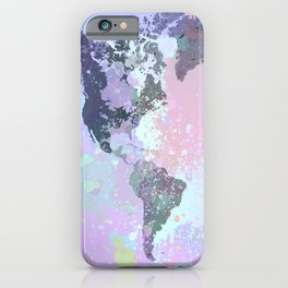 Design 157 World Map iPhone Case