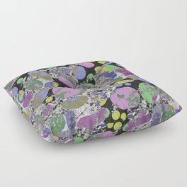 Crazy Paving - Abstract, textured, pastel coloured artwork Floor Pillow