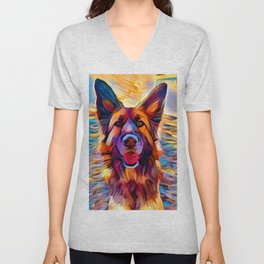 German Shepherd 8 Unisex V-Neck