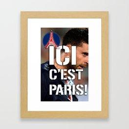 Ici c'est Paris! colors urban fashion culture Jacob's 1968 Paris Agency for Motta psg supporters Framed Art Print