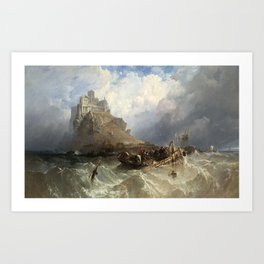 St Michael's Mount, 1830 Art Print