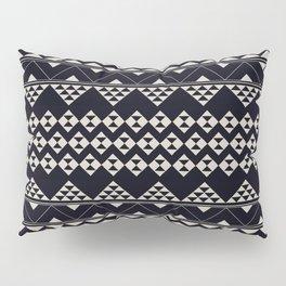 monochromatic Tribal geometric zigzag triangular pattern Pillow Sham
