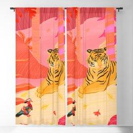 Tiger and Mandarin Ducks Blackout Curtain