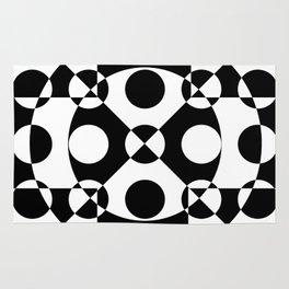 Black and white reversed Rug