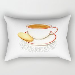 Cup of Tea and a biscuit Rectangular Pillow