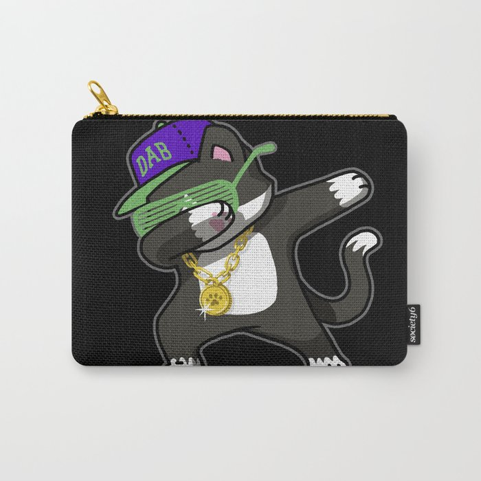 Dabbing Cat Frajola Carry-All Pouch