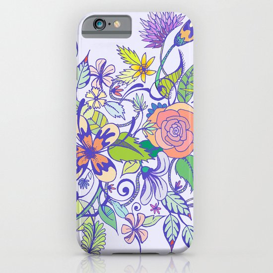 Floral Blue iPhone & iPod Case