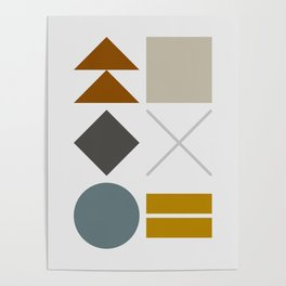 Mid West Geometric 03 Poster