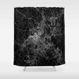 nashville map Shower Curtain
