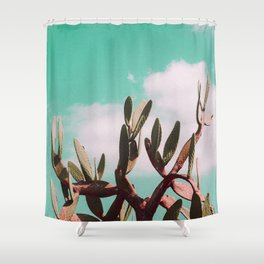 Vintage cactus life Shower Curtain
