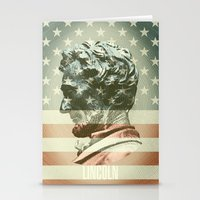 lincoln Stationery Cards featuring Lincoln by Gusvili
