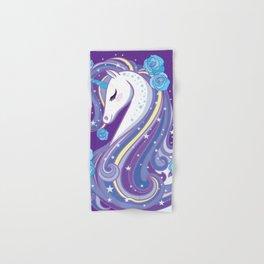 Magical Unicorn in Purple Sky Hand & Bath Towel