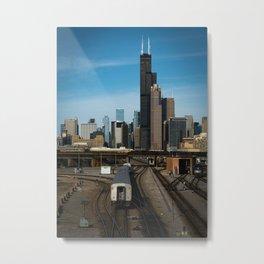 Chicago Trainyard Metal Print