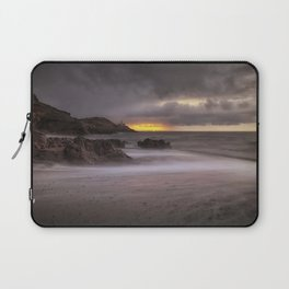 Stormy sunrise at Bracelet Bay Laptop Sleeve
