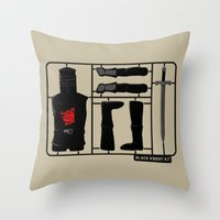 kit king Throw Pillows featuring Knight kit by le.duc