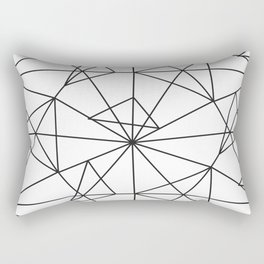 Contemporary black white abstract geometrical Rectangular Pillow