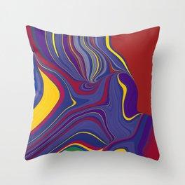 CRAY - vivid rich jewel primary color block design Throw Pillow