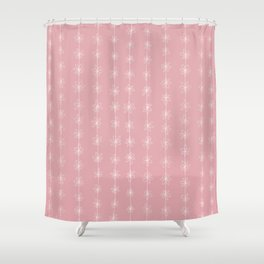 Pink Daisy Chain (Large Print) Shower Curtain