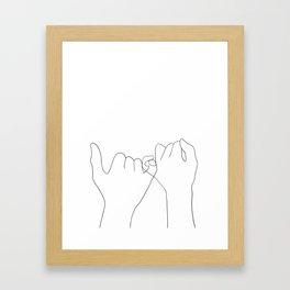 pinky swear Framed Art Print