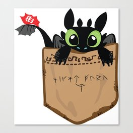 Toothless a viking dragon Canvas Print
