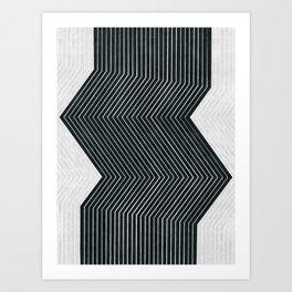 Abstract and minimalist art Art Print
