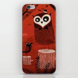 La Chouette et le Corbeau iPhone Skin