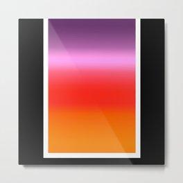 Sunset Gradient Metal Print