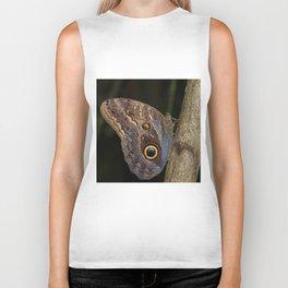 Owl butterfly in Costa Rica - Tropical moth Biker Tank