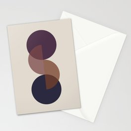 Geometric Harmony II - Sundown Stationery Cards