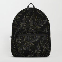 Fern leaves - Black Backpack
