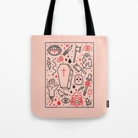 horror Tote Bags featuring Good Clean Horror by Josh Ln